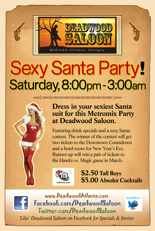 Deadwood Saloon Santa Party